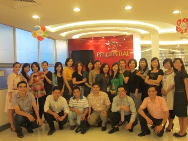 Đào tạo Kỹ năng viết bài phát biểu tại Prudential Vietnam